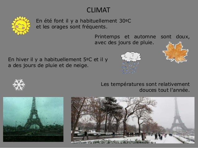 CLIMAT Les températures sont relativement douces tout l'année. En été font il y a habituellement 30ºC et les orages sont f...