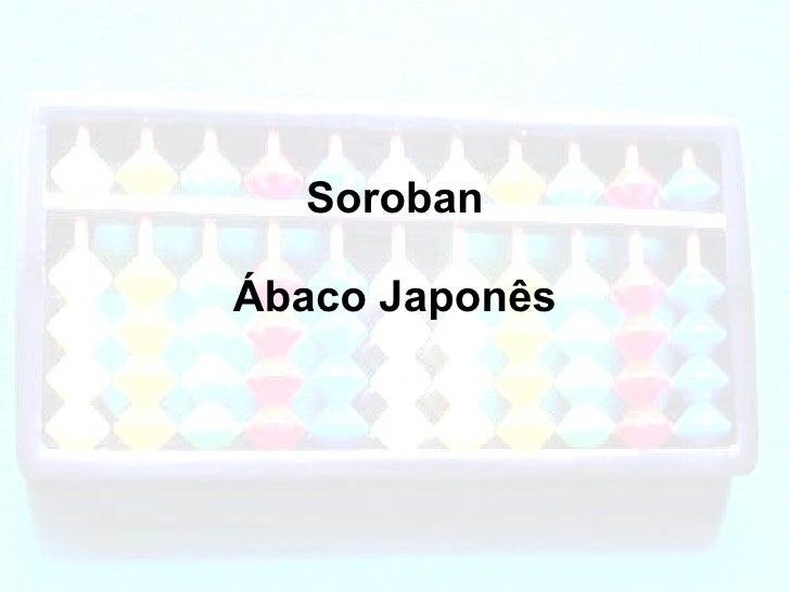 Soroban Ábaco Japonês