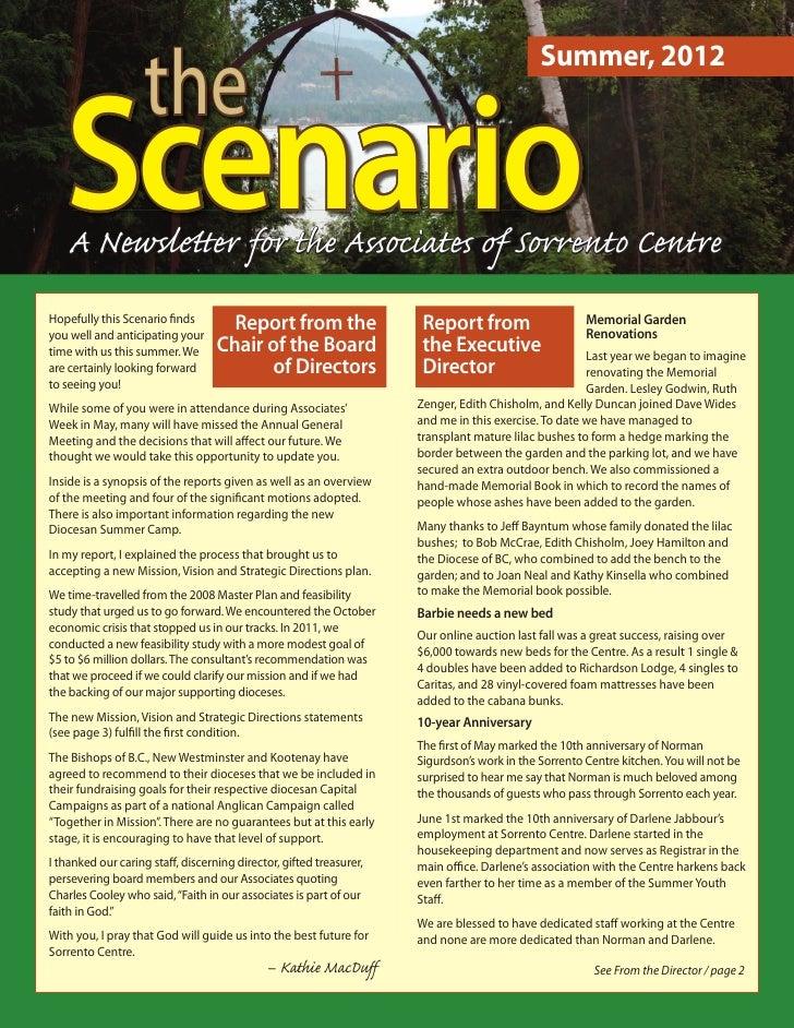 the                                                                                            Summer, 2012   Scenario   A...