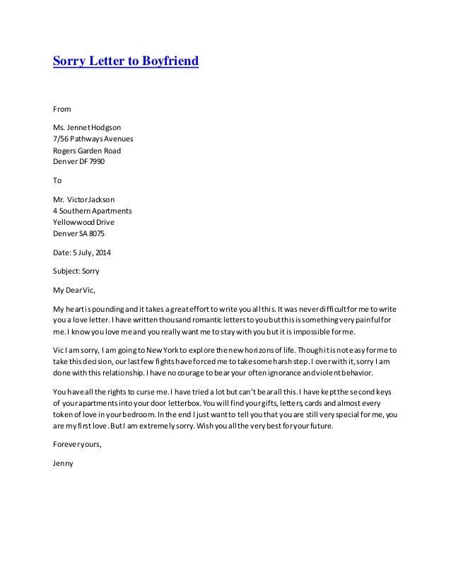 Sorry essay for boyfriend