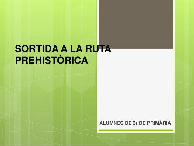 SORTIDA A LA RUTA PREHISTÒRICA ALUMNES DE 3r DE PRIMÀRIA