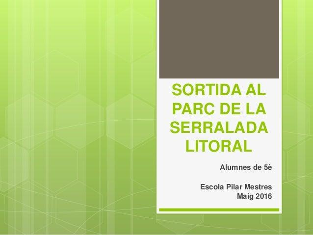 SORTIDA AL PARC DE LA SERRALADA LITORAL Alumnes de 5è Escola Pilar Mestres Maig 2016