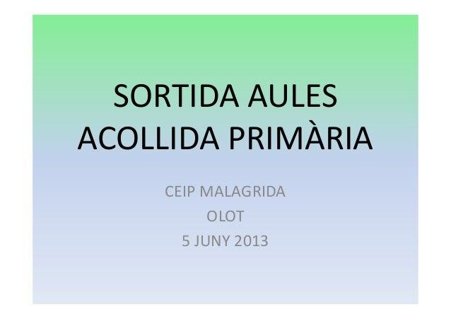 SORTIDA AULESACOLLIDA PRIMÀRIACEIP MALAGRIDAOLOT5 JUNY 2013