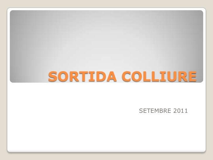 SORTIDA COLLIURE         SETEMBRE 2011