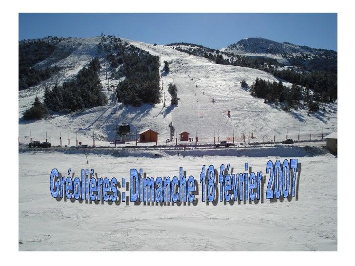 Gréolières : Dimanche 18 février 2007