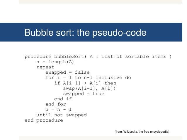 Program for Bubble Sort in C++