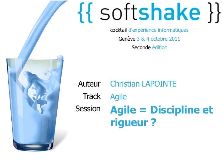 cocktail d'expérience informatiques             Genève 3 & 4 octobre 2011                   Seconde éditionAuteur    Chris...