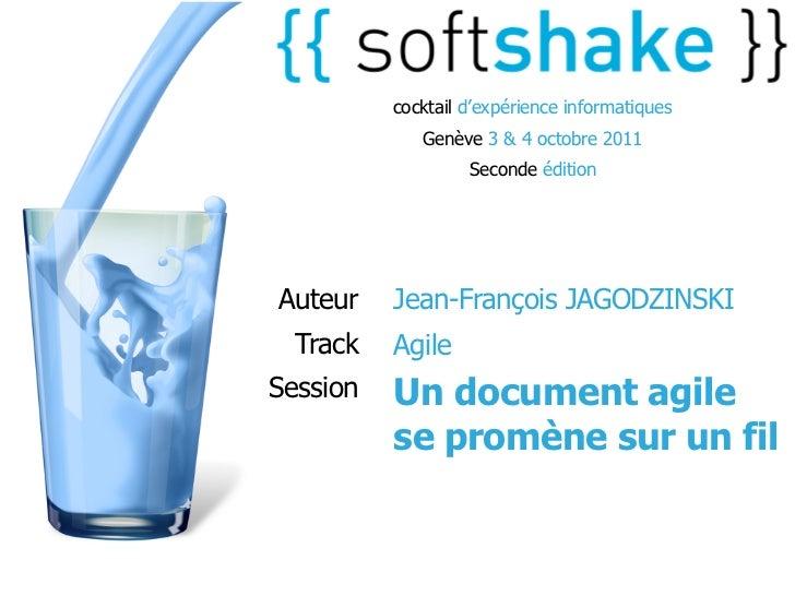 cocktail d'expérience informatiques             Genève 3 & 4 octobre 2011                   Seconde éditionAuteur    Jean-...