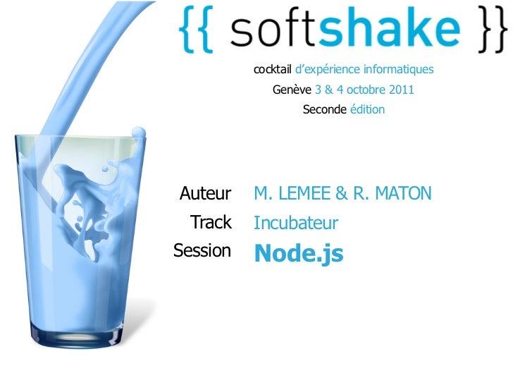 cocktail d'expérience informatiques             Genève 3 & 4 octobre 2011                   Seconde éditionAuteur    M. LE...
