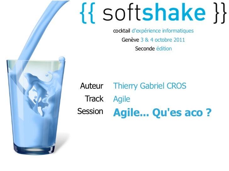 cocktail d'expérience informatiques             Genève 3 & 4 octobre 2011                   Seconde éditionAuteur    Thier...