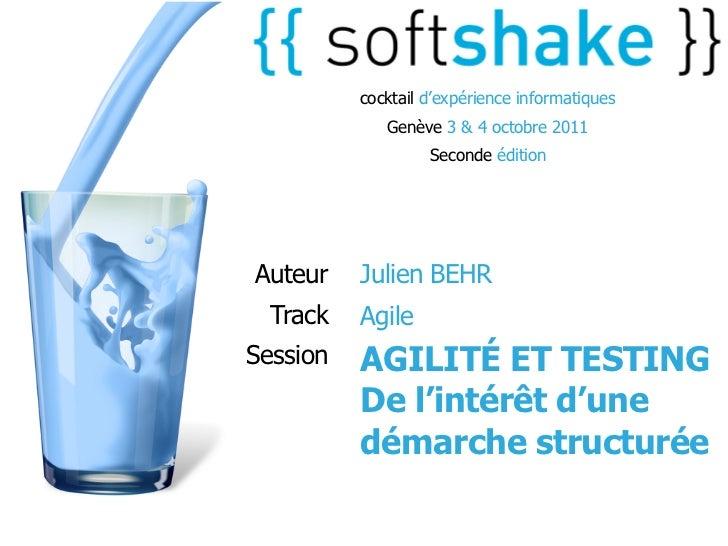 cocktail d'expérience informatiques             Genève 3 & 4 octobre 2011                   Seconde éditionAuteur    Julie...