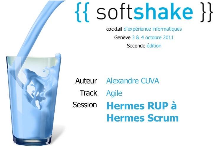 cocktail d'expérience informatiques             Genève 3 & 4 octobre 2011                   Seconde éditionAuteur    Alexa...