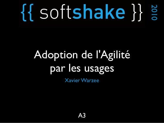 Xavier Warzee 2010 A3 Adoption de l'Agilité par les usages