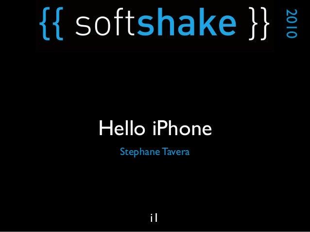 Stephane Tavera 2010 i1 Hello iPhone