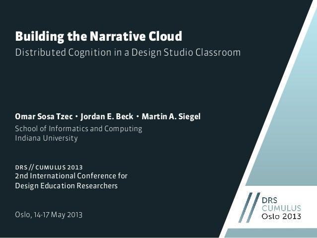 Building the Narrative CloudOmar Sosa Tzec・Jordan E. Beck・Martin A. SiegelSchool of Informatics and ComputingIndiana Unive...