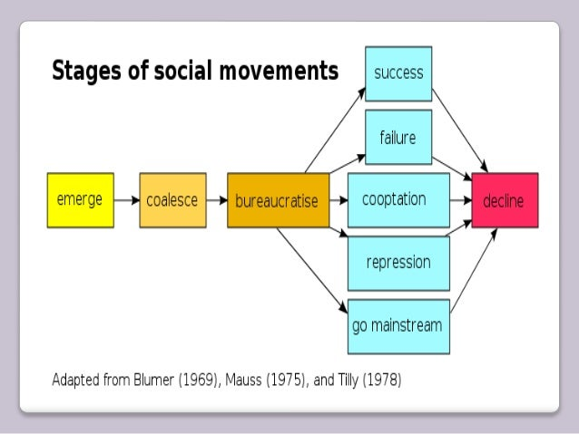 The different stages of social movments