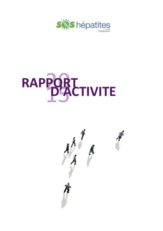 20 15 RAPPORT D'ACTIVITE