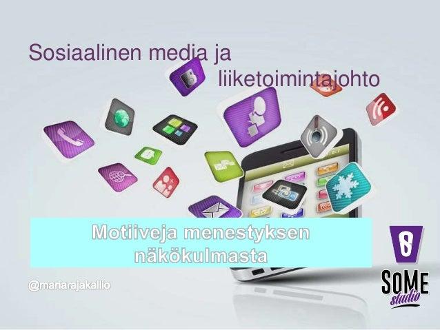 Sosiaalinen media ja liiketoimintajohto