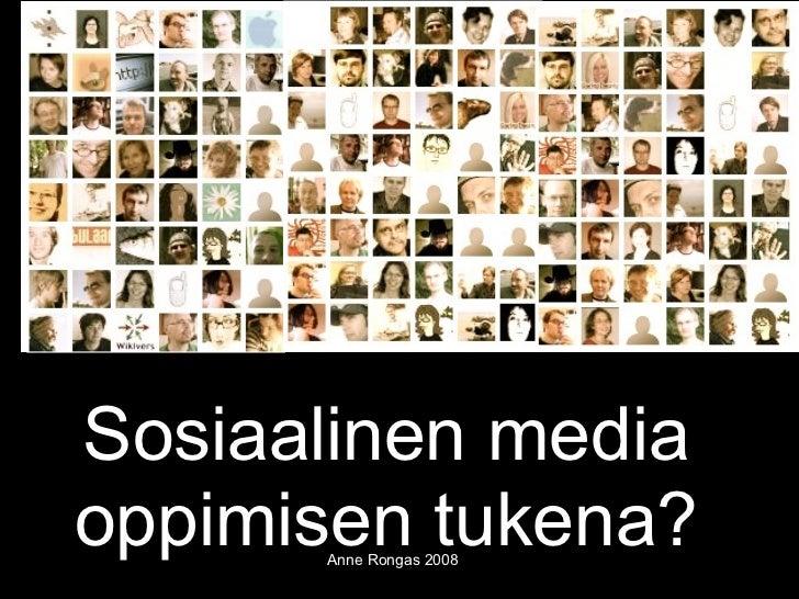Sosiaalinen media oppimisen tukena?