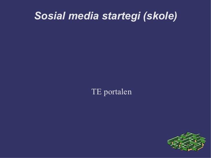 Sosial media startegi (skole)           TE portalen