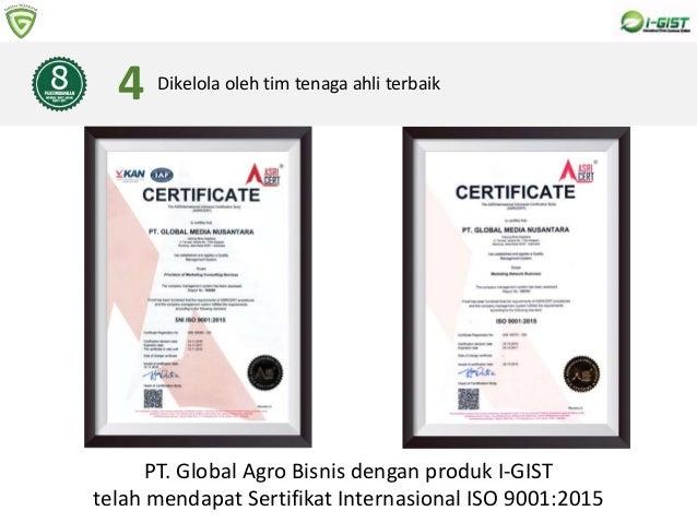 8 PERTIMBANGAN MEMBELI BIBIT POHON DARI I-GIST Dikelola oleh tim tenaga ahli terbaik4 PT. Global Agro Bisnis dengan produk...