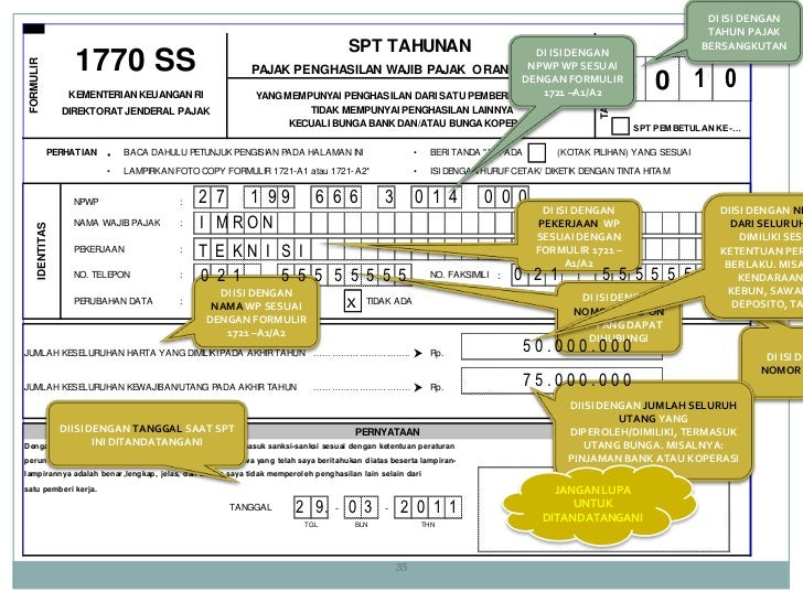 Formulir Spt 1770 Ss 2015 Pdf