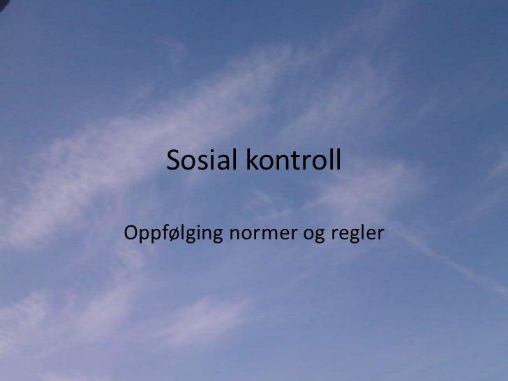 hva er sosial kontroll
