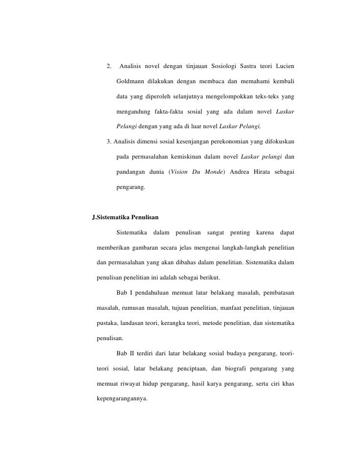 dimensi sosial dalam novel laskar pelangi karya andrea hirata tinjauan sosiologi sastra Academiaedu is a platform for academics to share research papers 128 pages.