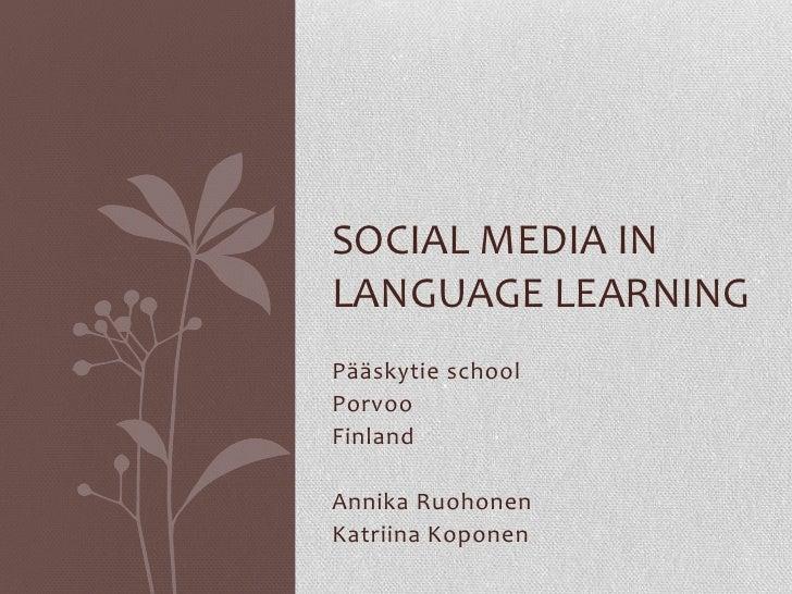 social media language learning pdf