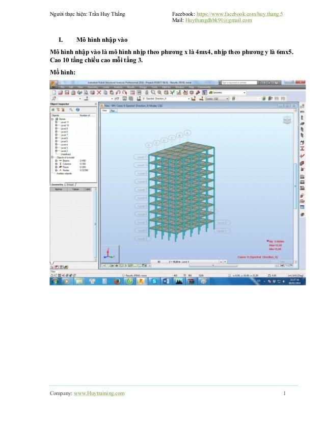 So sánh kết quả giữa Etabs và Robot Structural Slide 2