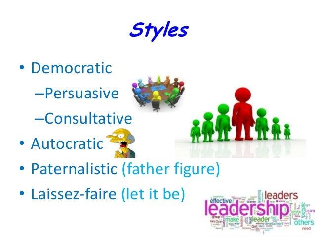 Autocratic democratic and laissez-faire leadership styles pdf