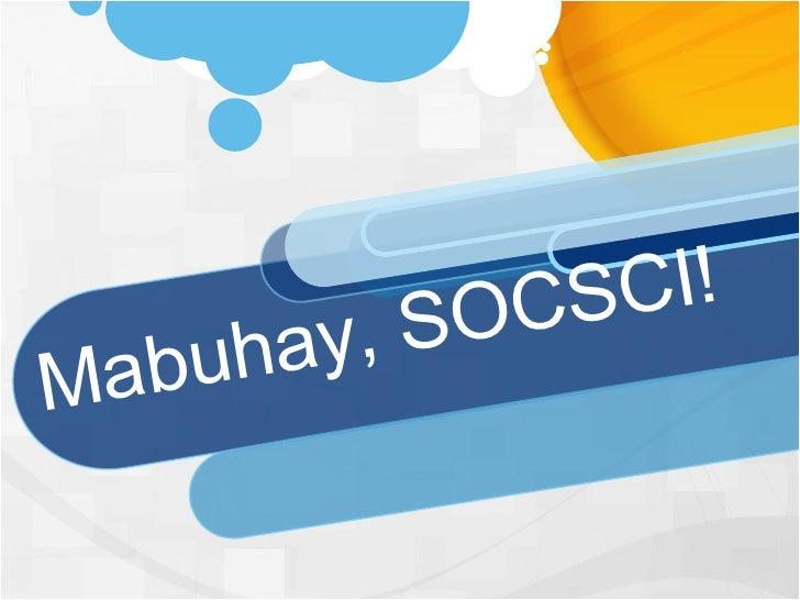 Mabuhay, SOCSCI!