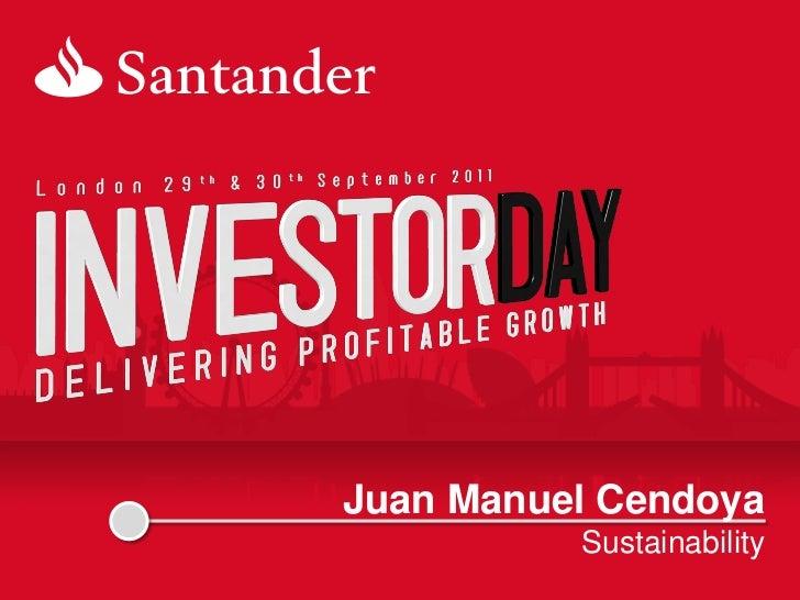 Juan Manuel Cendoya          Sustainability