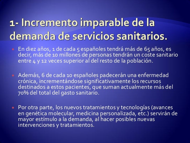    En diez años, 1 de cada 5 españoles tendrá más de 65 años, es    decir, más de 10 millones de personas tendrán un cost...