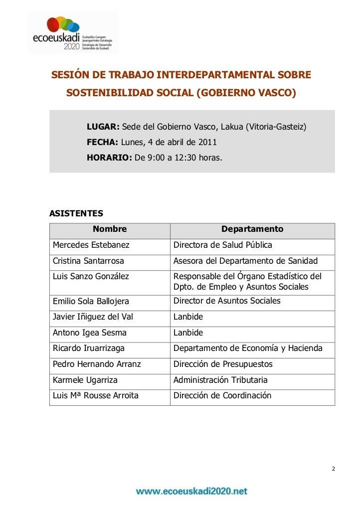 Sesi n de trabajo interdepartamental sobre la - Departamento de interior del gobierno vasco ...
