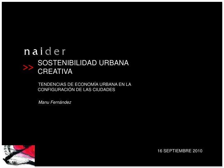 Competitividad urbana creativa