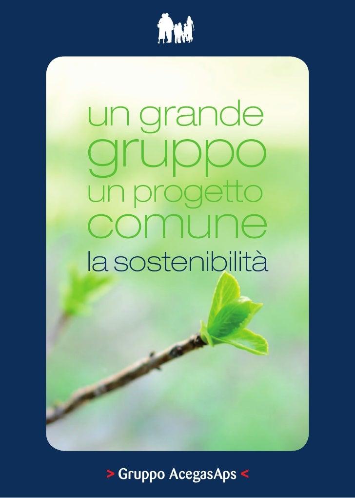 Iniziative        per lo Sviluppo        Sostenibileun grandegruppoun progettocomunela sostenibilità > Gruppo AcegasAps <