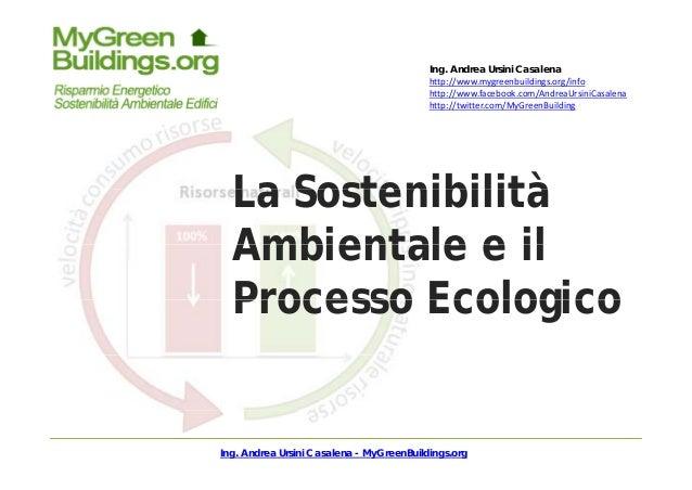 Ing. Andrea Ursini Casalena h // b ld / fhttp://www.mygreenbuildings.org/info http://www.facebook.com/AndreaUrsiniCasalena...