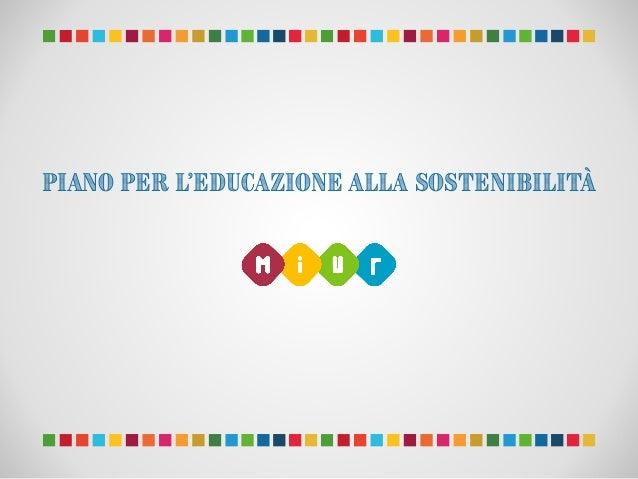 Piano per l'Educazione alla Sostenibilità