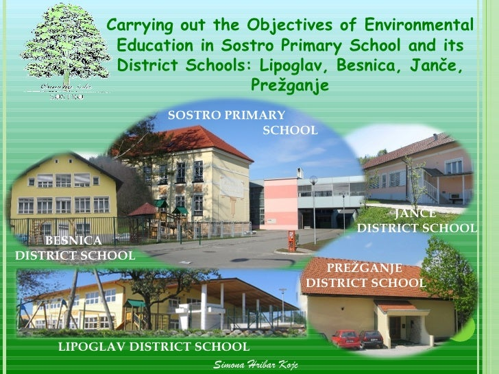 Carrying out the Objectives of Environmental             Education in Sostro Primary School and its             District S...