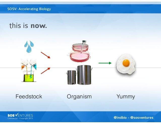 Confidential - Copyright 2015 SOSventures is the Accelerator VC this is now. @indbio - @sosventures SOSV: Accelerating Bio...