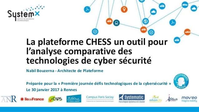 La plateforme CHESS un outil pour l'analyse comparative des technologies de cyber sécurité Nabil Bouzerna - Architecte de ...