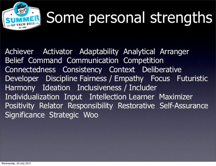 what are some personal strengths