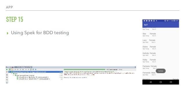 APP STEP 15 ▸ Using Spek for BDD testing