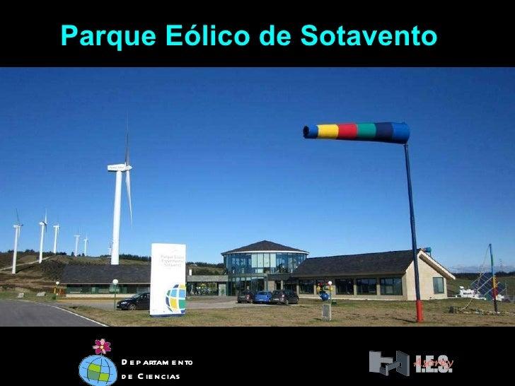Parque Eólico de Sotavento Departamento de Ciencias