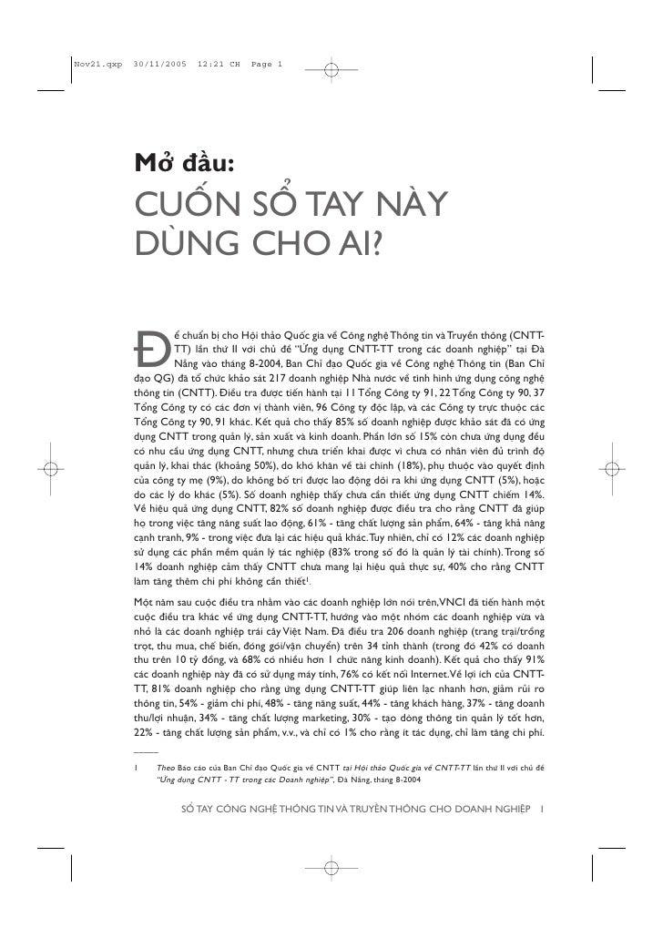 Múã àêìu: CUÖËN SÖÍ TAY NAÂY DUÂNG CHO AI?              ïí chuêín bõ cho Höåi thaão Quöëc gia vïì Cöng nghïå Thöng tin vaâ...