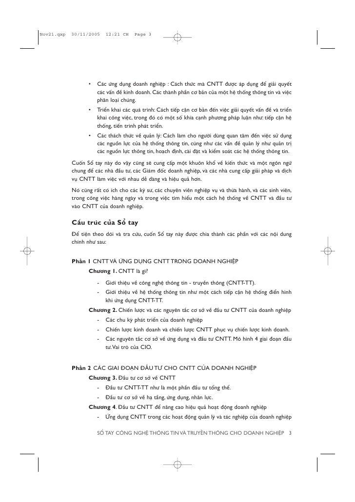 •   Caác ûáng duång doanh nghiïåp : Caách thûác maâ CNTT àûúåc aáp duång àïí giaãi quyïët             caác vêën àïì kinh d...