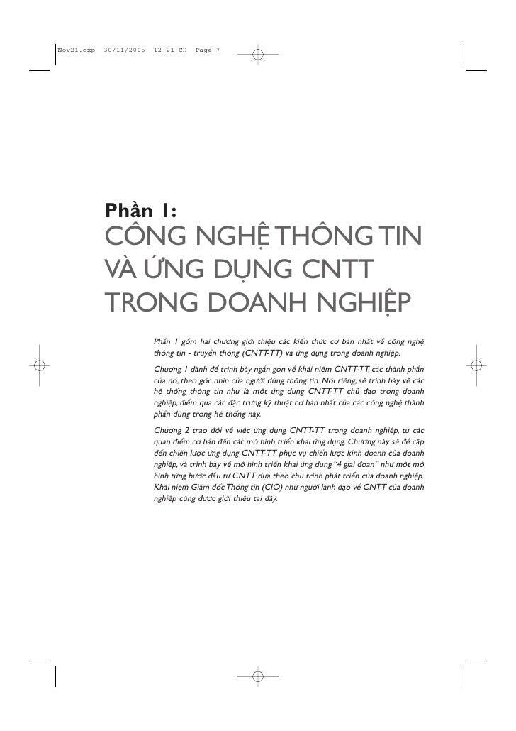 Phêìn 1: CÖNG NGHÏÅ THÖNG TIN VAÂ ÛÁNG DUÅNG CNTT TRONG DOANH NGHIÏÅP      Phêìn 1 göìm hai chûúng giúái thiïåu caác kiïën...
