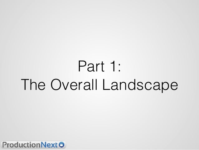 Part 1: The Overall Landscape