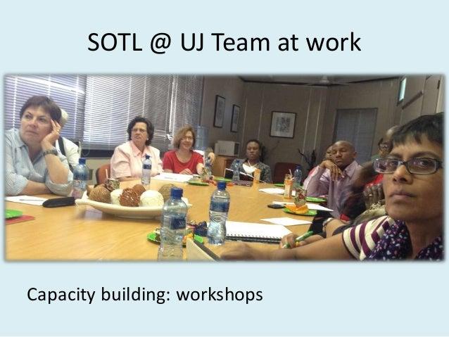 SOTL @ UJ Project Capacity building: seminars